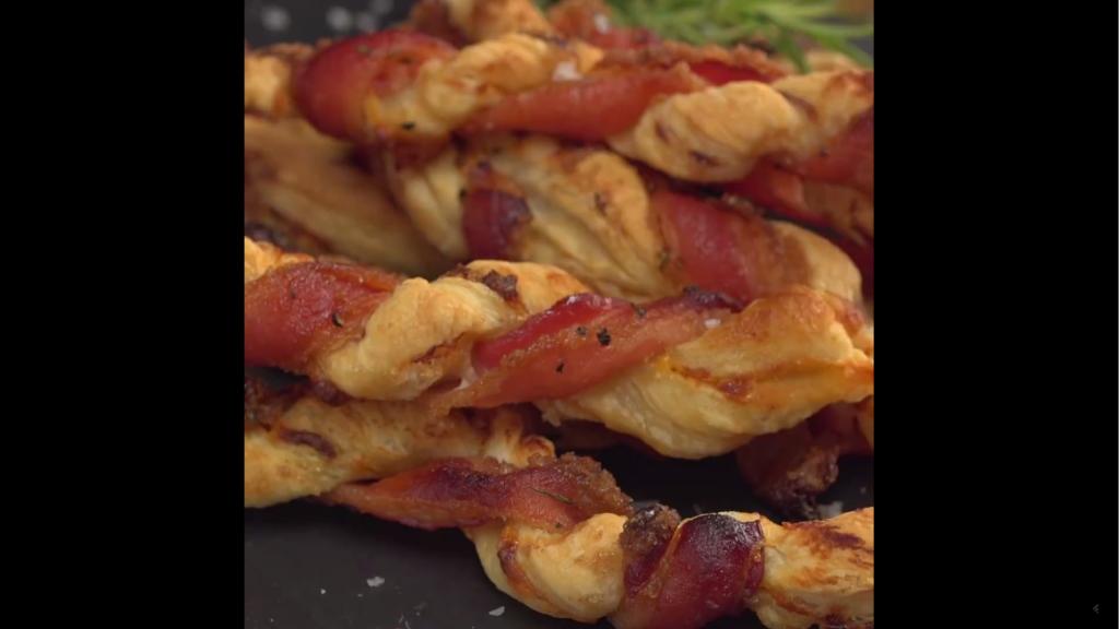 Cheddar-Bacon-Zöpfe-Rezept