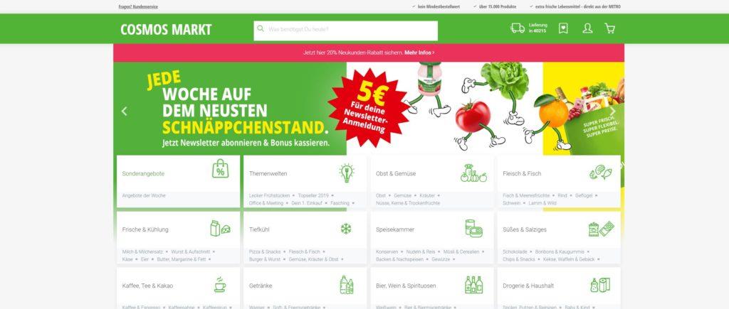 Cosmos-Markt.de Online Sipermarkt