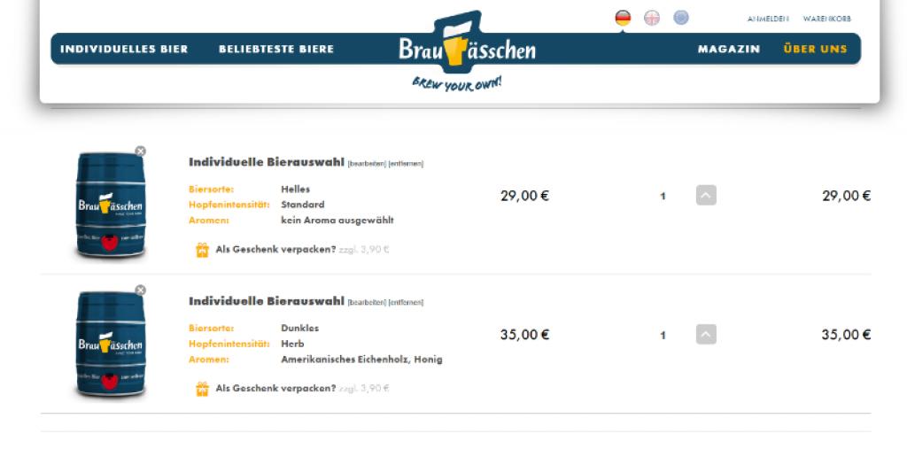 Mein individuelles Bier für 35€