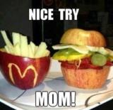 Wir versuchen gesund zu essen