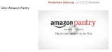 amazon pantry Gutschein Willkommen